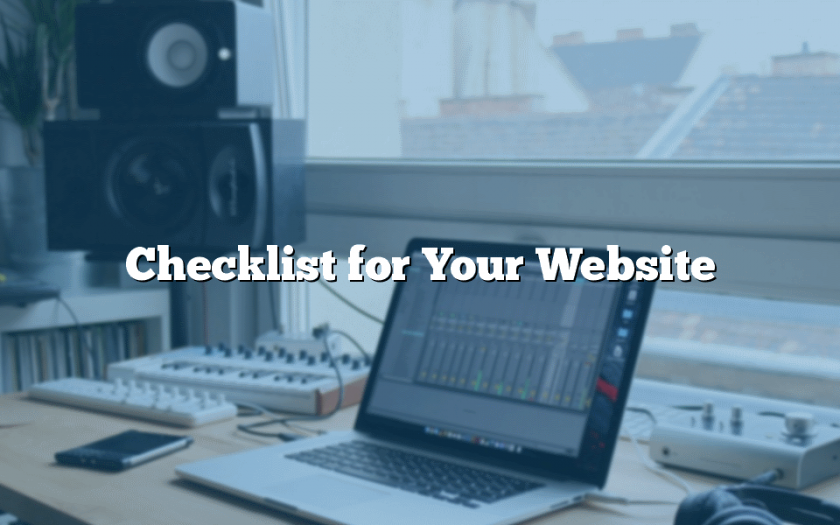 Checklist for Your Website